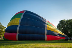 Inflating a hot-air balloon Stock Images