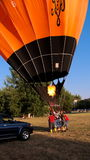 Inflating Hot Air Balloon Royalty Free Stock Photo