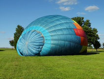 Inflating Hot Air Balloon Royalty Free Stock Image