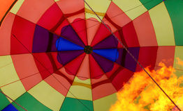 Inflating Hot Air Baloon. In Vivid Color Stock Photos