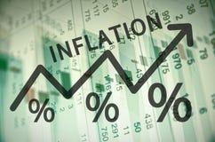 inflation royaltyfri illustrationer