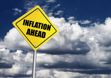 Inflation ahead sign Stock Photography
