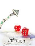 Inflation arrow Stock Photo