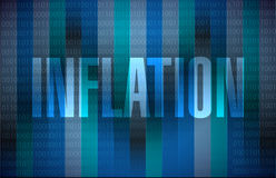 Inflation binary sign concept illustration Royalty Free Stock Photo