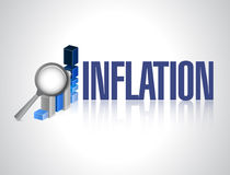 inflation business graph sign concept Stock Photography