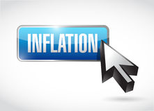 Inflation button sign concept illustration Stock Images