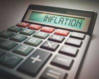 Inflation Calculator Royalty Free Stock Images