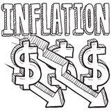Inflation decreasing sketch Stock Photo