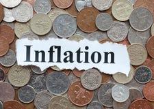 Inflation. Decreasing value of money stock image
