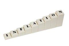 Inflation en hausse Images libres de droits