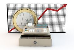 Inflation and euro Royalty Free Stock Image