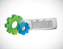 Inflation gear sign concept illustration Royalty Free Stock Image