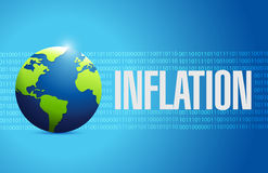 Inflation globe binary sign concept Royalty Free Stock Photos