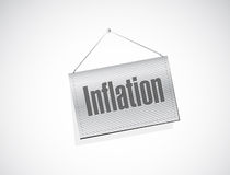 Inflation hanging sign concept illustration Royalty Free Stock Images