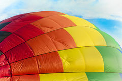 Inflation. Hot air Balloon on its side Royalty Free Stock Images