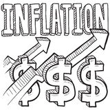 Inflation increasing sketch Stock Photography