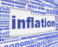 Inflation message conceptual design. Economy fall concept Royalty Free Stock Photo