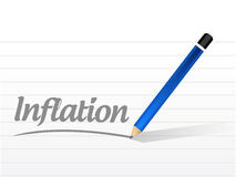 Inflation message sign concept Stock Image