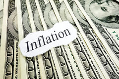 Inflation note Royalty Free Stock Images
