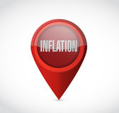 Inflation pointer sign concept illustration Stock Photography