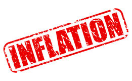 Inflation red stamp text Royalty Free Stock Images