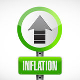 Inflation road sign concept illustration Royalty Free Stock Photo