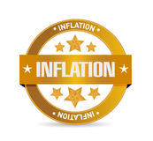 Inflation seal sign concept illustration Royalty Free Stock Image