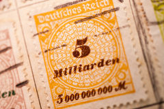 Inflation Stamp Stock Photography