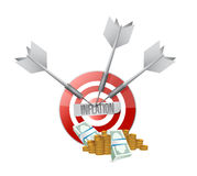 Inflation target and money sign concept Stock Images