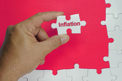 Inflation Text - Business Concept Stock Photography