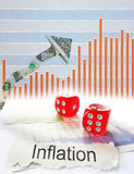 Inflation up arrow Stock Photography