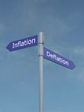 Inflation vs deflation Royalty Free Stock Photography