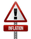 Inflation warning sign concept illustration Stock Image