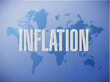 Inflation world sign concept illustration Stock Photo