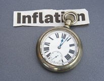 Inflationary times. Stock Photos