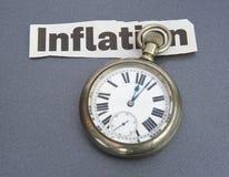 inflations- tider arkivfoton