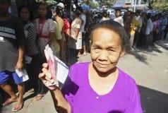 INFLAZIONE FEBBRAIO DELL'INDONESIA Fotografia Stock Libera da Diritti