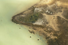 Inflight peninsula. Low pass fly over of a peninsula in South West Western Australia stock photo