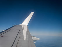 Inflight View from Airplane Stock Photo
