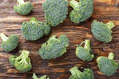 Inflorescence av rå broccoli Fotografering för Bildbyråer