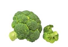 Inflorescenze delle teste del lat verde dell'asparago dei broccoli Brassica oleracea, sylvestrison del brassica fotografie stock libere da diritti