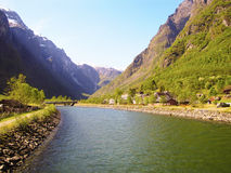 Inflow of the fiord Royalty Free Stock Photo