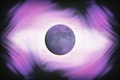 Influência abstrata do planeta da lua da ilustração no sle do homem e da terra ilustração stock