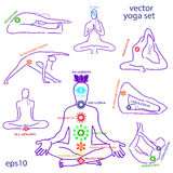 Influence of asanas for chakras Stock Images