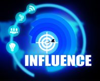 Influence concept plan graphic Royalty Free Stock Photography