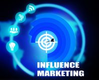 Influence Marketing concept plan graphic. Background Stock Photography