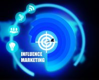 Influence Marketing concept plan graphic. Background Royalty Free Stock Photo