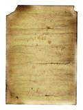 Influence of time. Sheet of the old paper which has visited on fire. The paper is specially prepared for the further correction. It is convenient to put on it Stock Photography