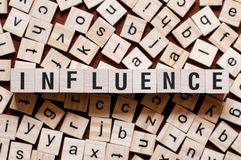 Influence word concept royalty free stock photo