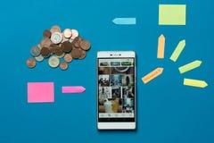 Influencer ett jobb som ger dig bra pengar royaltyfri bild